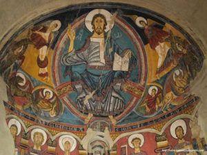 Maiestas Domini en Sant Climent de Taüll. Pintura medieval religiosa