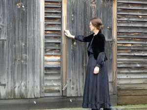Jeanne Gehret portraying Susan B. Anthony at Quaker Meetinghouse, Adams, MA