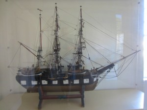Model of a whaling ship seen at Martha's Vineyard. Photo by Jeanne Gehret