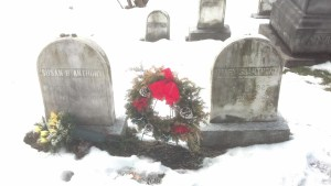 Susan B. grave with Mary
