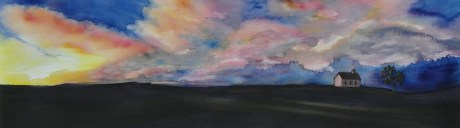 Wide Skies Over Lower Fox Creek School – Image © Susan Bartel. All Rights Reserved.
