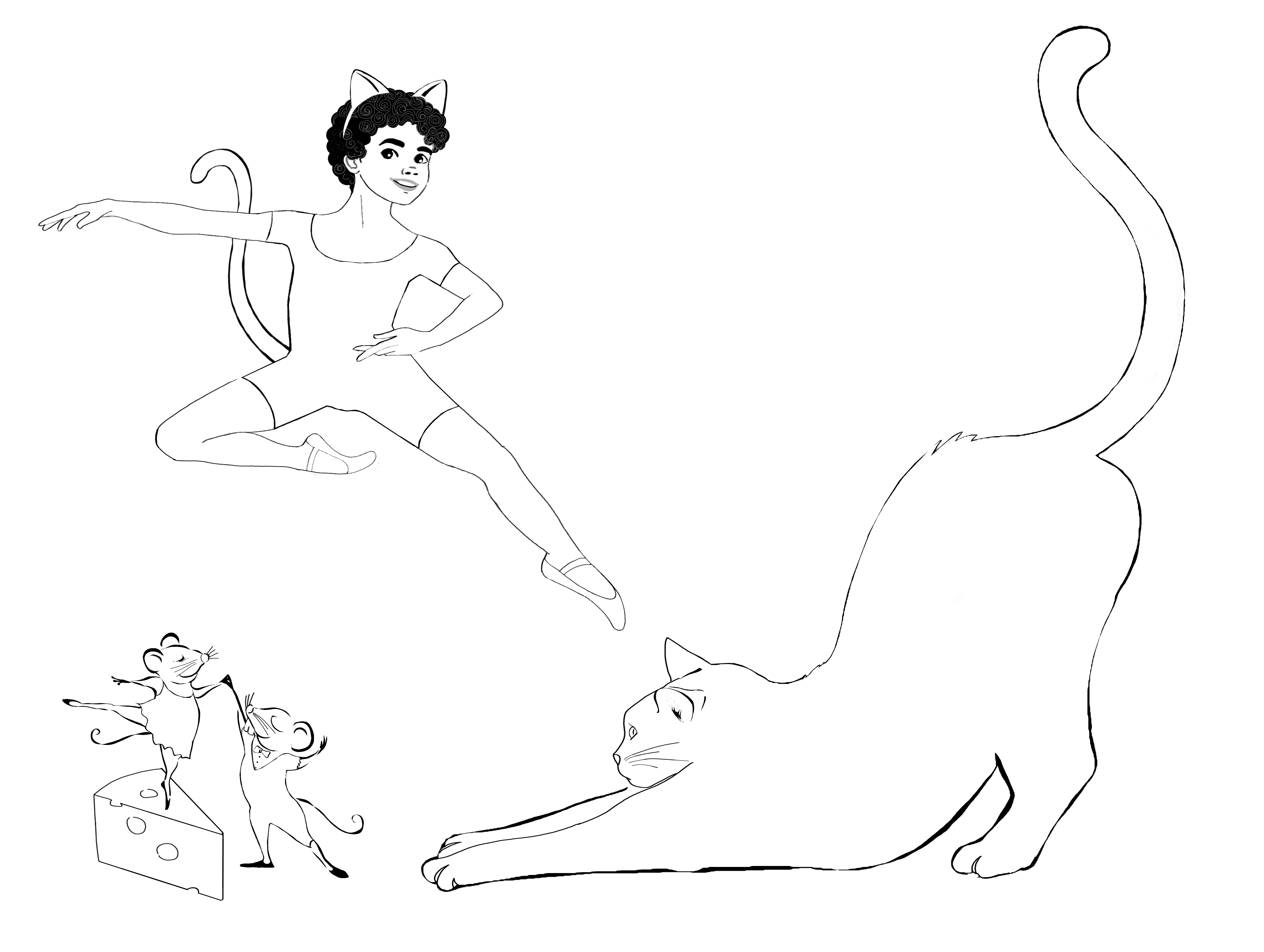 Animal Ballet Coloring Pages
