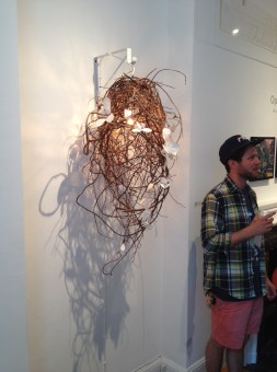 Suspended illuminated sculpture