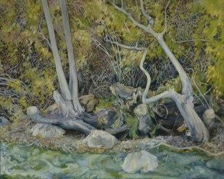 "FERNWOOD BEACH, oil on canvas, 16""x20"""
