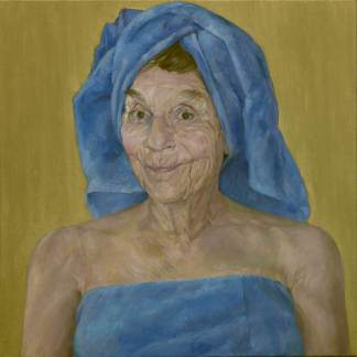 "JOAN, oil on canvas, 30""x30"""