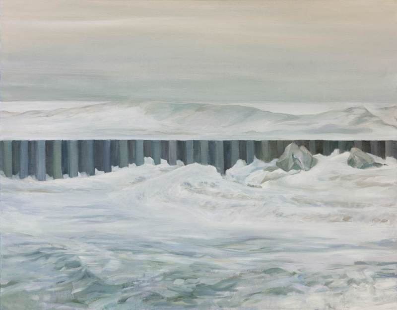 BARRIER, oil on canvas