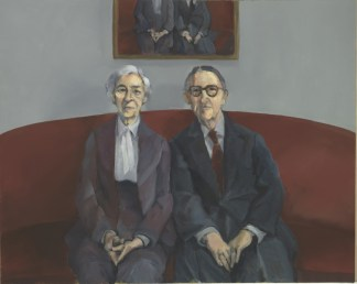 "THE COUPLE, oil on canvas, 16""x20""x1½"""