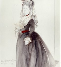 THE MARRIAGE OF FIGARO, costume design, MARCELLINA, 1982