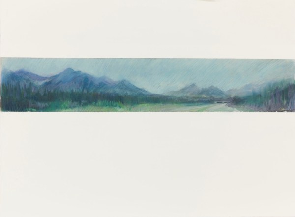 Rocky Mountain Road 2, 22.5x30 pastels on Arches Paper