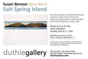 New Work, Salt Spring Island, June 9-June 26, 2019