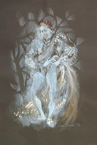 Susan Benson, A midsummer nights dream, Oberon sketch