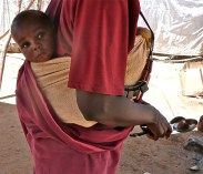 Baby in Kassab camp, North Darfur