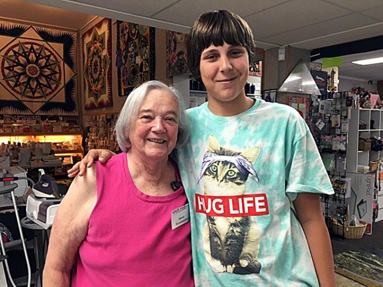 "Sunne Brandmeyer and the ""Kid Who Gives Hugs""."