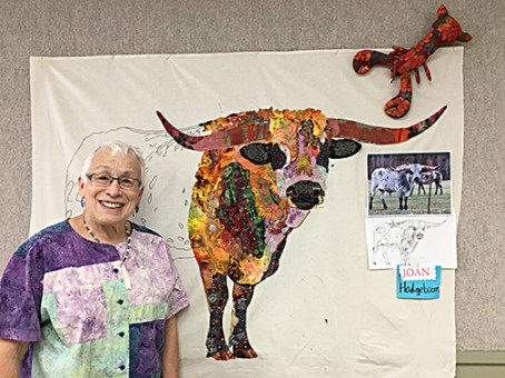 Shop owner Joan Hodgeboom with this year's creation.
