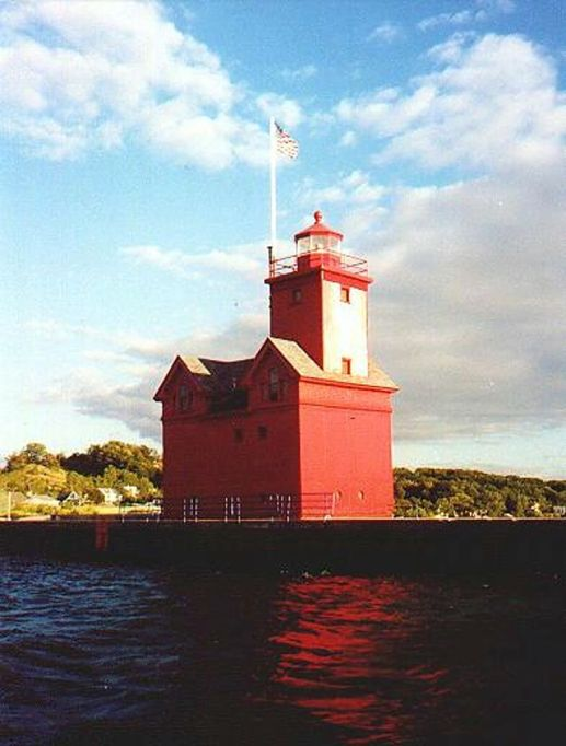 Big Red Lighthouse Photo 1-7-00