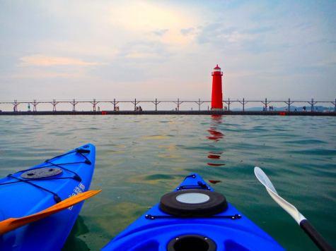 Lake MI kayaks