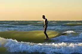 Lake MI surfing