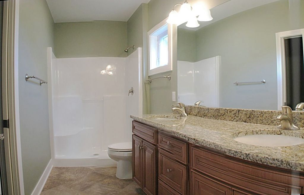 Lights over the master bath room mirror
