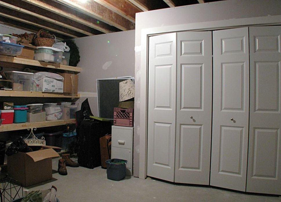 Storage closet in lower level