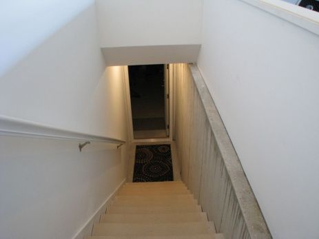 19-2460--Stairs from garage to lower level