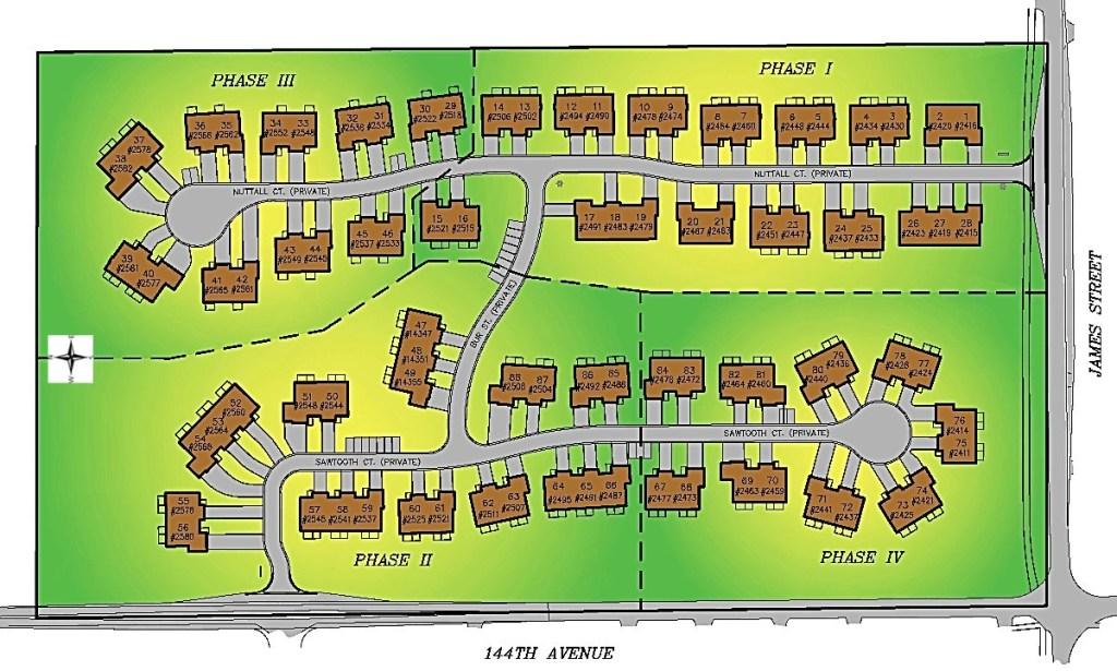 Layout Plan at Sawgrass Condos in Holland, MI