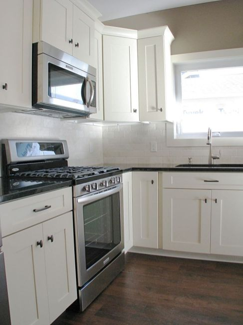 2447 Nuttall CourtKitchen-Gas stainless steel stove and built-in microwave