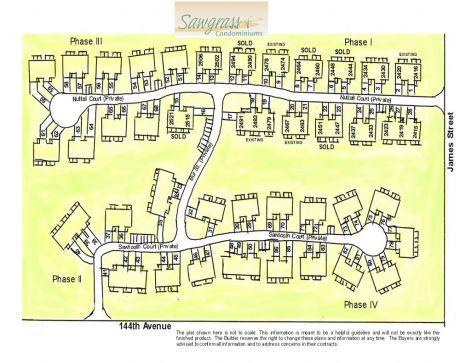 Plat layout of Sawgrass Condominiums