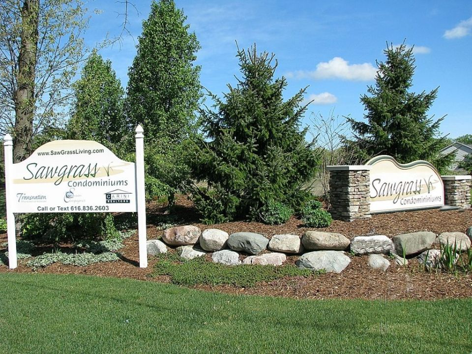 Entrance sign leading to your new home in Sawgrass Condominiums