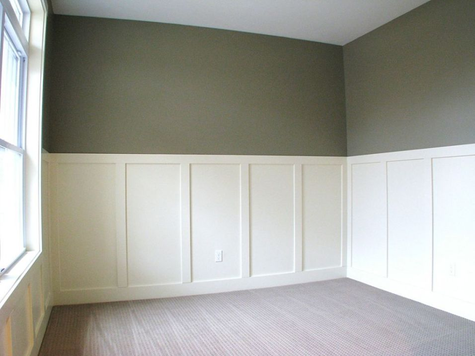 Front office, den, or bedroom. white wainscot walls.