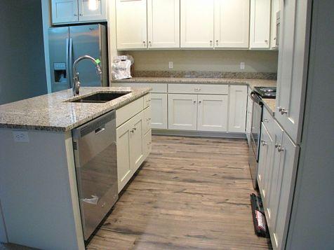 Kitchen, laminated wood floor