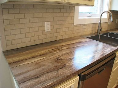 2430 Formica counter top with faux brick back splash