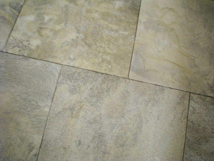 2444 Master bath vinyl floor
