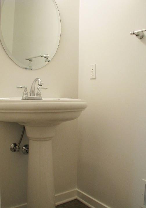 2444 Half bath with pedestal sink with special mirror