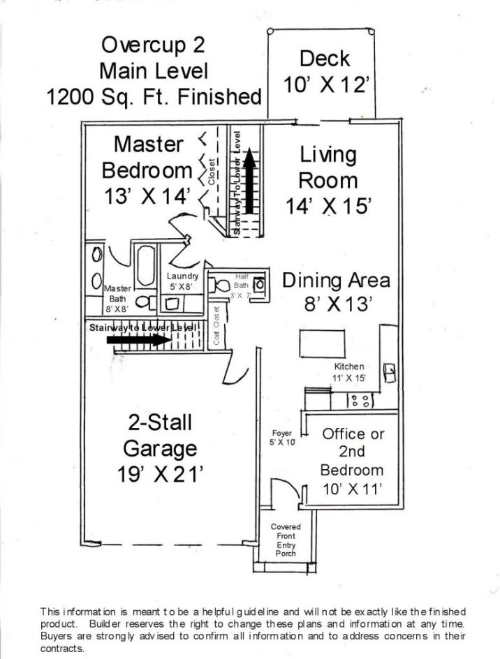 Main floor of this unit