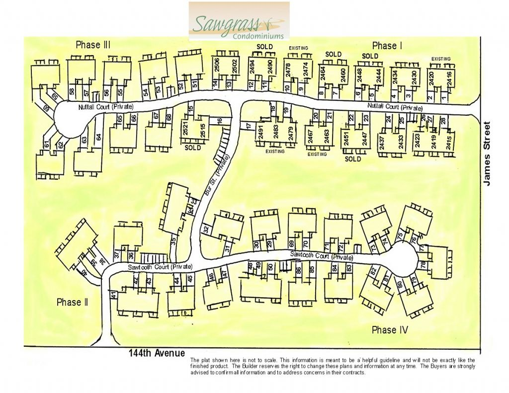 Plat of the subdivision