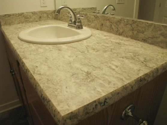 2444 Lower level full bath counter and high rise faucet
