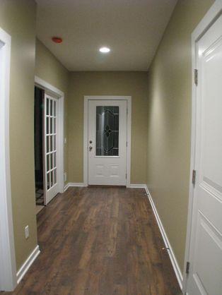Foyer, Office on the left, laminate wood flooring.