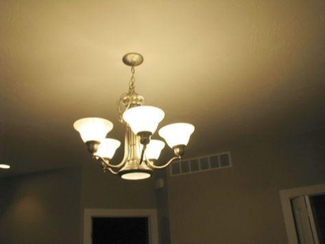 Dining room light.