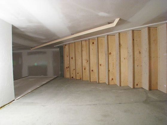 Unfinished area in lower level.