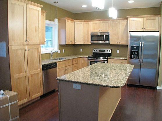 2437 Kitchen center island with quartz counter
