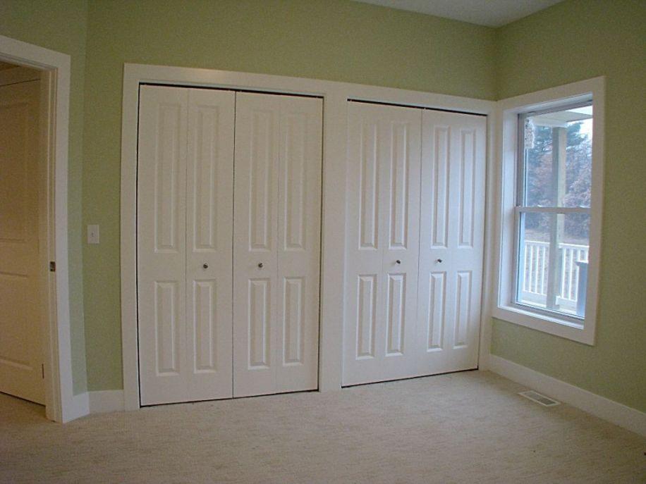 2433 Master bedroom double closets with 4 panel bi-fold doors