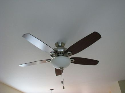 2502 Lighted ceiling fan in master bedroom