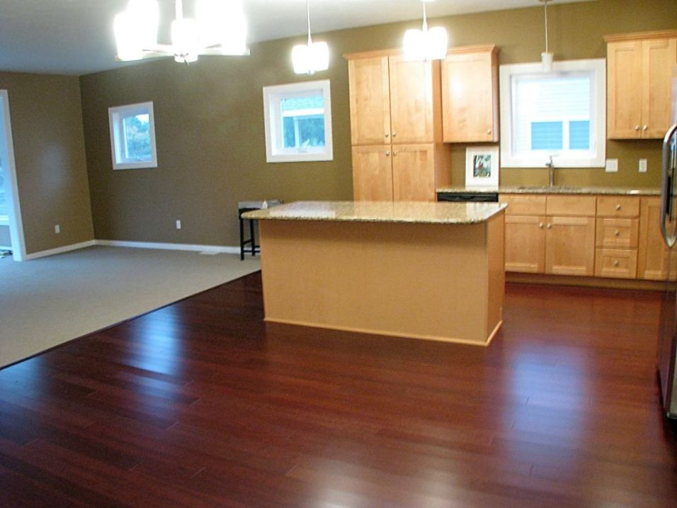 2437 Kitchen center island and dining area