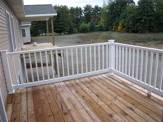 2437 Back yard deck off 4-season room