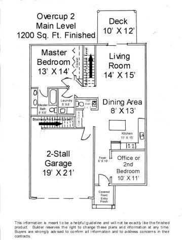 2502 Main level floor plan