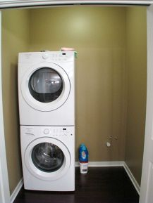 2437 Laundry with stackable washer & dryer