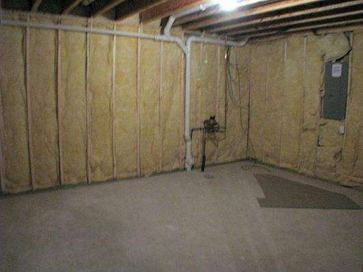 2437 Unfinished lower level insulated storage room