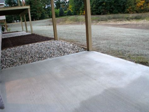 2437 Cement covered patio off lower level family room