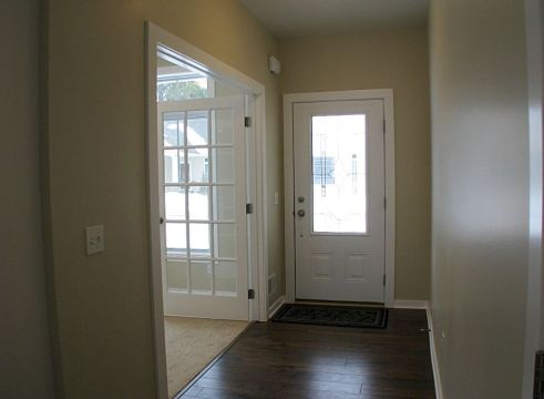 2518 Foyer, front door, French doors to flex room