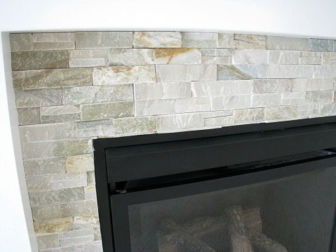 2518 Close up of stone work on living room gas log fireplace